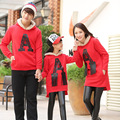 Family Clothing A Letter Sweatshirt Family Set Clothes for Mother and Daughter Father Son Clothing Family Clothes, LB58