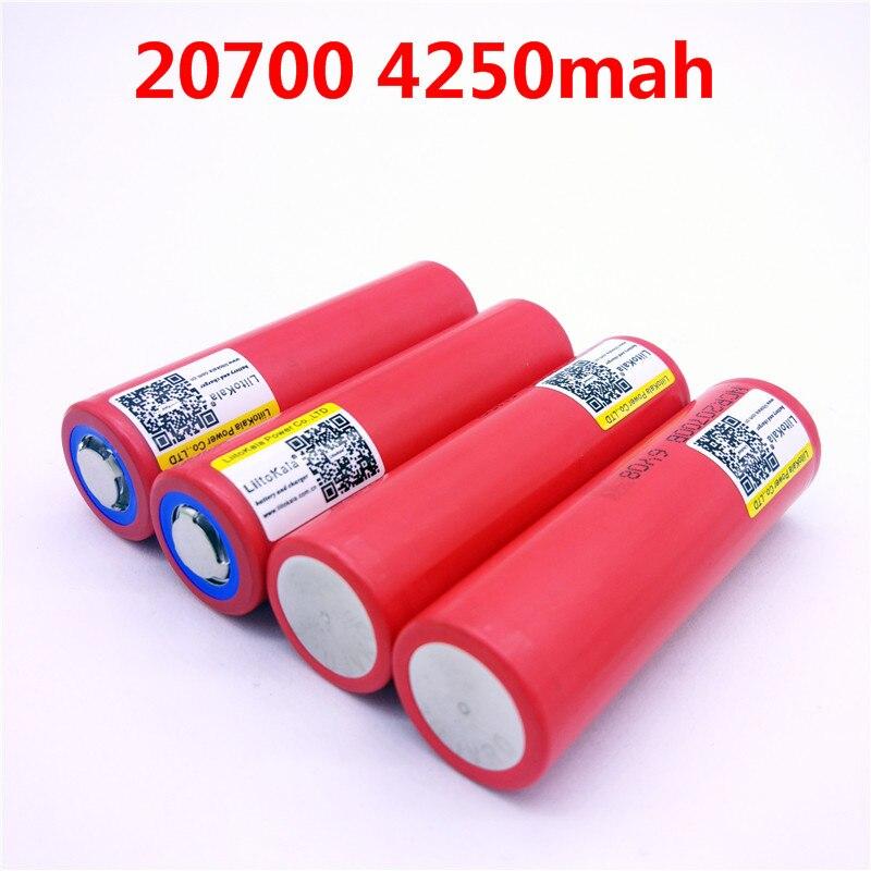 4pcs/lot Liitokala For SANYO 20700B 20700 4250mAh battery NCR20700B high rate battery cell 20A 20700