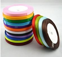 1000pcs/lot 25yard length 6mm width double sided satin ribbon  wedding party diy craft 204 color u pick wa013-6mm