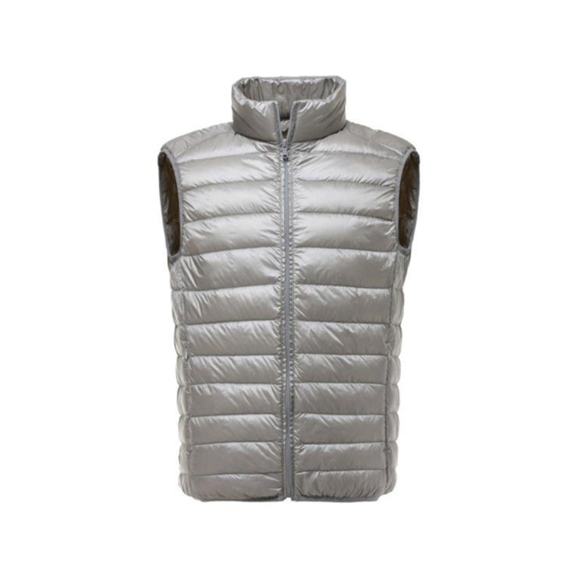 Image 4 - FGKKS Fashion Brand Men Vest Jacket Waistcoat Down Jacket 2019 Autumn Winter Male Coat Solid Color Sleeveless Casual Men's Vest-in Down Jackets from Men's Clothing