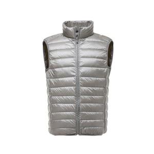 Image 4 - Marca de moda FGKKS hombres chaleco chaqueta chaleco abajo chaqueta 2020 Otoño Invierno hombre abrigo Color sólido sin mangas chaleco Casual para hombres