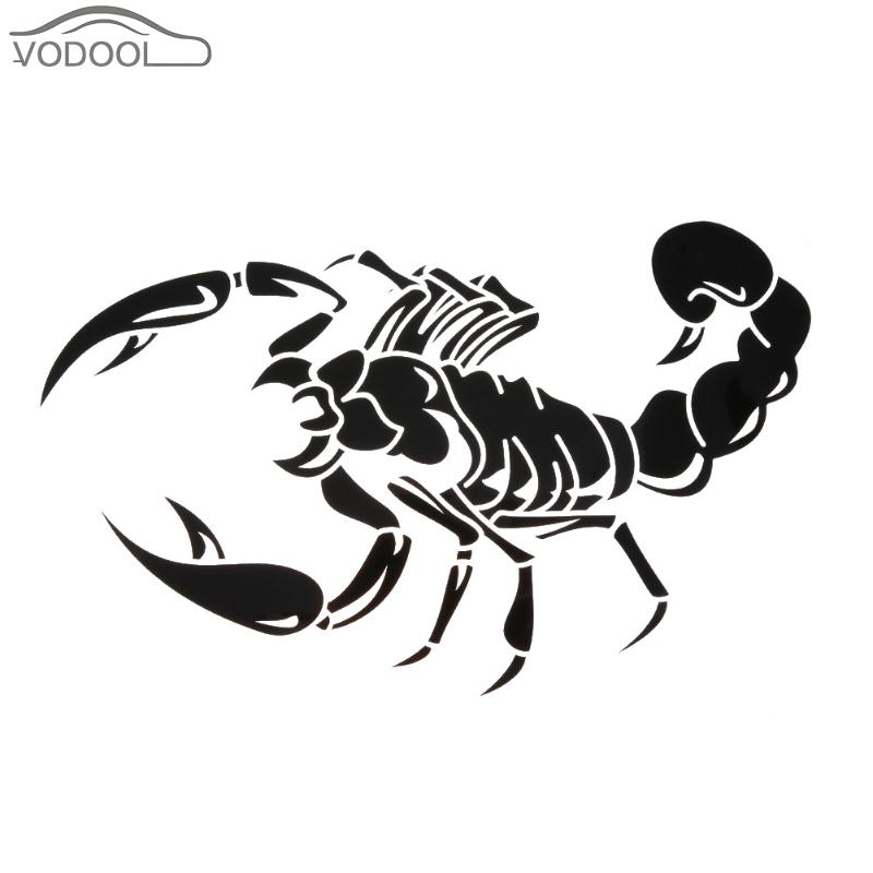 Car-styling 3D Black Scorpion Car Sticker Auto Bumper Stickers Decals Motorcycle Bike Stickers Car Body Decoration Accessaries
