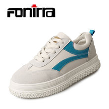 FONIRRA 2017  Spring Autumn Women White Shoes  Breathable Sneaker  Flat Shoes Women Platform Casual Shoes Female Footwear 001