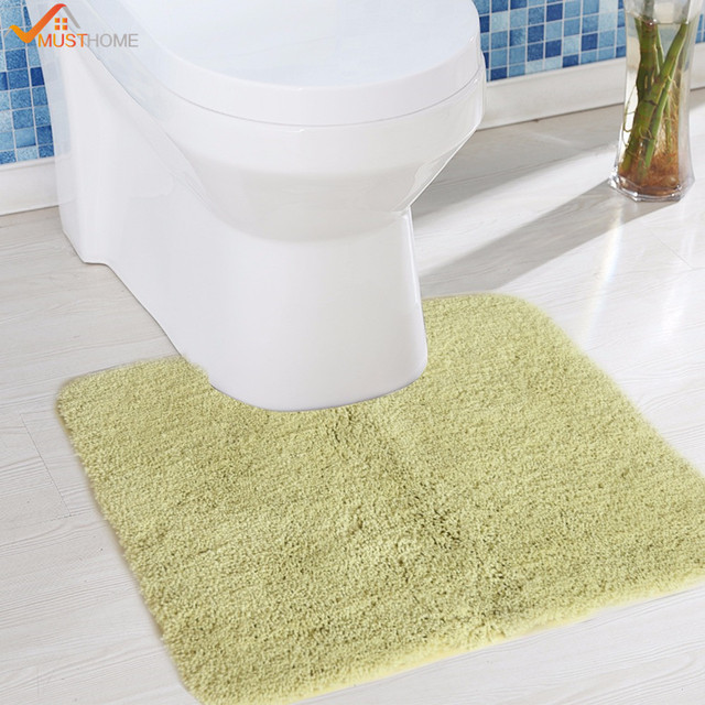 45cmx45cm Thicken Suede Toilet Mat Non Slip Latex Back Rugs For Bathrooms And Toilets