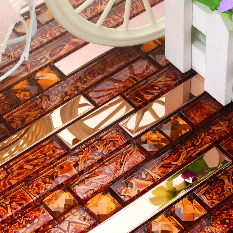 Acquista all 39 ingrosso online rosso mattonelle della cucina for Mattonelle cucina mosaico