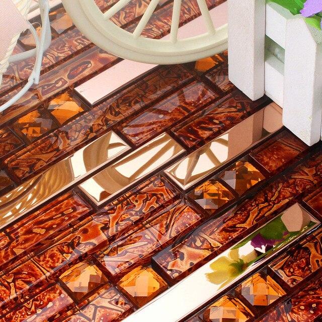Rot Edelstahl Glas Mosaik Fliesen HMGM1083C Backsplash Diamant Glasmosaik  Küche Wandfliese Kostenloser Versand