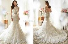 2017 Free Shipping Mermaid Wedding Dress Lace vestido de noiva any size/color