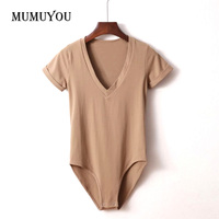 Womens Ladies Sexy Slim Solid Color Deep V Neck Elastic Bottoming T Shirt Tee Shirt Top