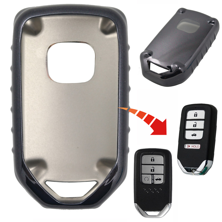 1pcs TPU 4 Buttons Car Key Case Cover For Honda Civic EX EX-L Si Accord CR-V CRV PILOT Odyssey Element Fit HRV Crider Spirior