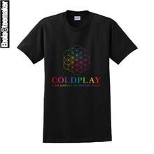 2016 New Rock T Shirt Brand Tee Men's/Women's Coldplay A head Full Of Dreams Tour Dates Short Sleeve Men Women Print T-Shirt Tee