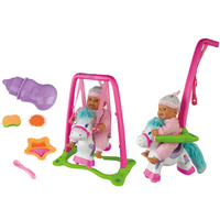 Free Shipping Electric Doll Toy Swing Deformed Stroller Variable Doll Stroller Child Pretend Play Doll Toys Dollhouse Furniture