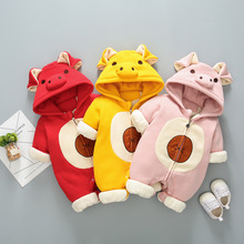 Cute pig romper Baby animal jumpsuit infant baby boy pig hooded jumpsuit kids girls winter outerwear clothing Toddler clothes baby pig pig walks
