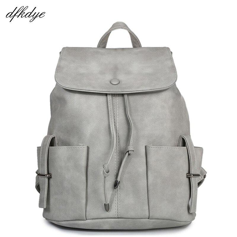 Women Korean Backpack High Quality Pu Leather For Teenagers Girls Casual Back Pack School Female Designers Backpacks Bagpack