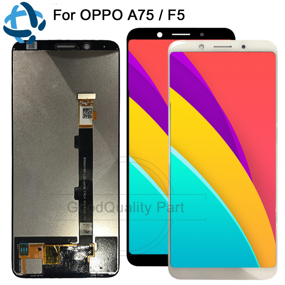 New 100% test Quality For <font><b>Oppo</b></font> <font><b>F5</b></font> Full LCD <font><b>DIsplay</b></font> Touch Screen A73 A75 A75S Digitizer Assembly For <font><b>Oppo</b></font> <font><b>F5</b></font> CPH1727 CPH1723 image