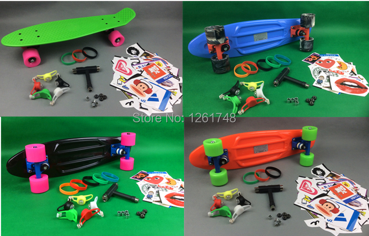 ФОТО Big discount! Super toughness / Environmental PP material banana board, fish plates, four wheel skateboard