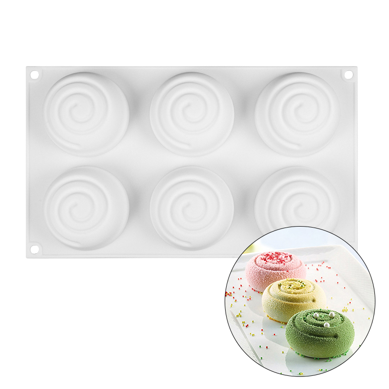 3D Silicone Cake Mold Round Ripple Shaped For Baking Mousse Bread Dessert Cakes Molds Kitchen Bakeware in Cake Molds from Home Garden