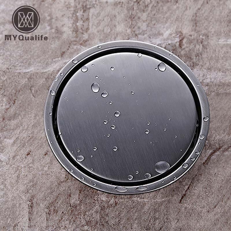 Free shipping Bathroom Insert Round Floor Waste Grates Bathroom Shower Drain 11cm Stainless steel