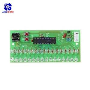 Image 3 - Sans soudure 16 LED double canal Audio indicateur de niveau amplificateur lampe bleu/vert/lumière LED rouge LED lumière DC 8  12V VU mètre Module