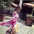 2017 весна солнцезащитный крем леди шарфы джокер текстильной печати Имитация шелковый шарф дамы открытый высокое качество солнцезащитный крем платок шарф