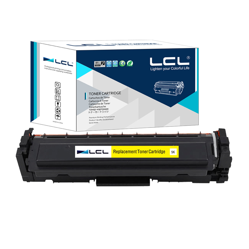 LCL 410A 410X CF412A CF412X CF412 412X (1-Pack) Yellow Toner Cartridges Compatible for HP Color LaserJet Pro M452dn/M477fdwfnw