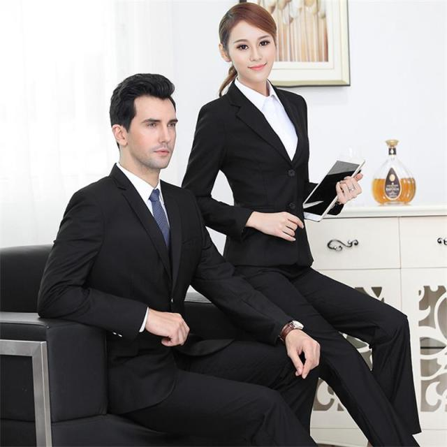 8f86a3798ff New fashion men and women uniforms professional dress women s slim pants  suit office ladies trousers overalls pants suit