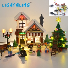Lightaling LED Set (Only Light Set) For Creator Expert Winter Toy Shop Building Model Compatible with LEGO 10249