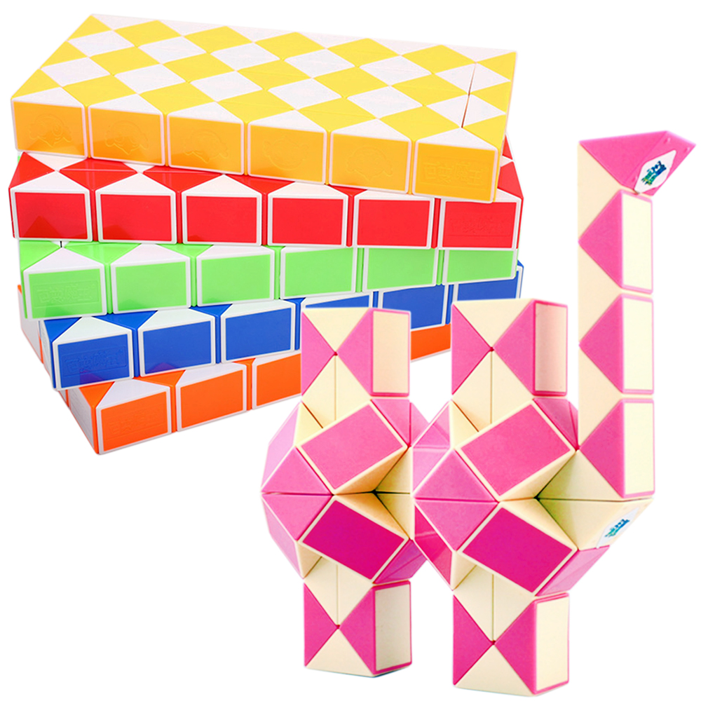 Puzzles & Games Good Hight Quality 72 Segments Snake Magic Cubes Toy For Children Cube Cubo Megico Stickerless Seventy-two Parts Cubos