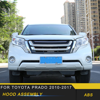 For Toyota Prado 2018 Car Styling Front Hood Middle Net Bumper Grille Assembly Frame Cover Trim Exterior Accessories