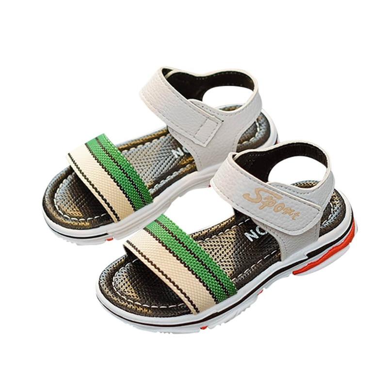2018 New Children Kids Infant Girls Boys Striped Letter Print Sport Sandals Casual Shoes For Summer