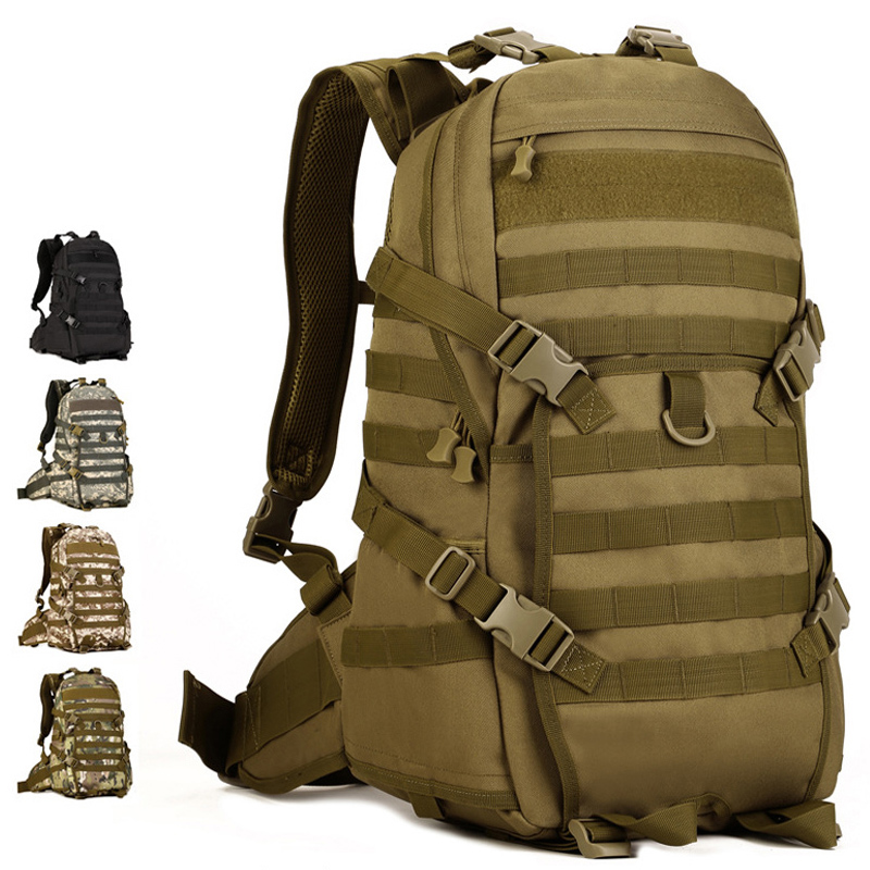 Outdoor Camping Camouflage Climbing Bag Black TAD Military Rucksack Mochila Militar Tactical Laptop Backpack 40L Army Bag outlife new style professional military tactical multifunction shovel outdoor camping survival folding spade tool equipment