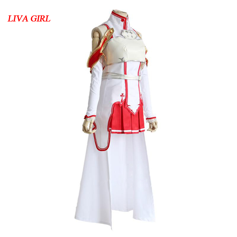 Yuuki Asuna Japanese Anime Sword Art Online cosplay Fighting Suit costume made Halloween Party Dress