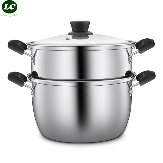 8Litre Cooking Steamer Stainless Steel Casserole with Double Boilers ...