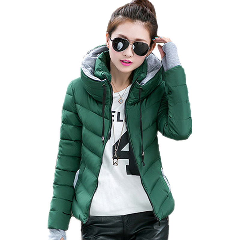 2018 new ladies fashion coat winter jacket women outerwear short wadded jacket female padded parka women's overcoat 1