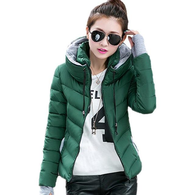 2018 new ladies fashion coat winter jacket women outerwear short wadded jacket female padded parka women's overcoat 1