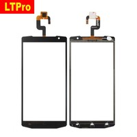 High Quality Working TP Black Glass Panel Touch Screen Digitizer For Oukitel K10000 Sensor Phone Parts