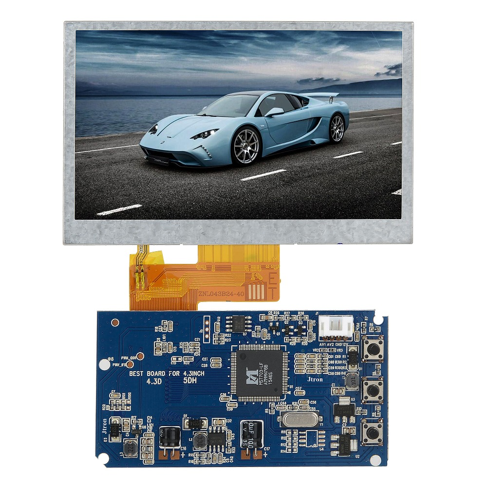 4.3 480x272 TFT LCD Display RGB LCD Display Module Kit Monitor 2-channel video input industrial control tax-control instrument image