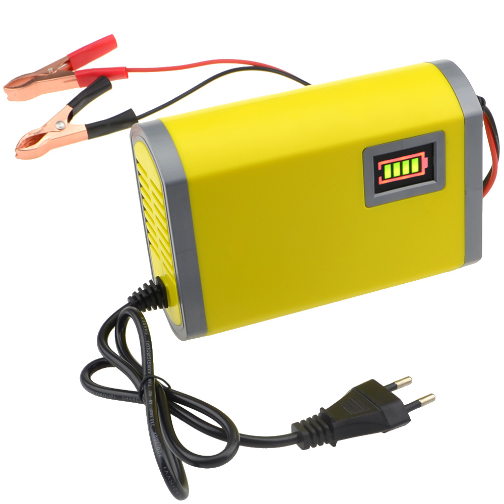 3pcs/lot 220V Input 6A 12V Car Battery Charger Motorcycle Charger 12V Lead Acid Charger EU Free Shipping+ Track Number 10001046-in Chargers from Consumer Electronics    1