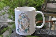 Star Wars R2D2 tazas de café Taza de viaje tazas de hacer su propio tazas taza de cerámica casa calcomanía porcelana tazas de té bebida de leche agua cerveza