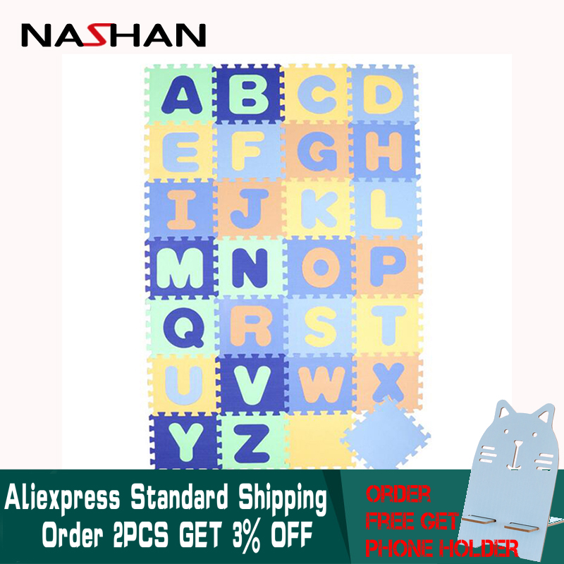 Nashan 28 pièces/ensemble tapis de jeu bébé Alphabet EVA tapis rampant en développement doux pour enfants tapis en mousse tapis de Puzzle pour enfants jeux de bébé