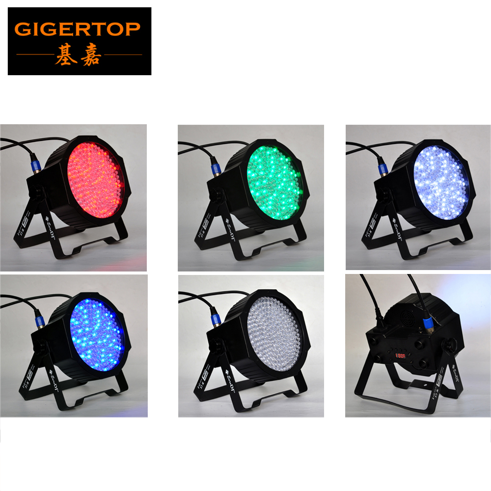 ФОТО TIPTOP Traditional F10 Flat Led Par Light RGBW 4IN1 Color black housing with 10mm high MCD LEDs, red/green/blue/white each 51