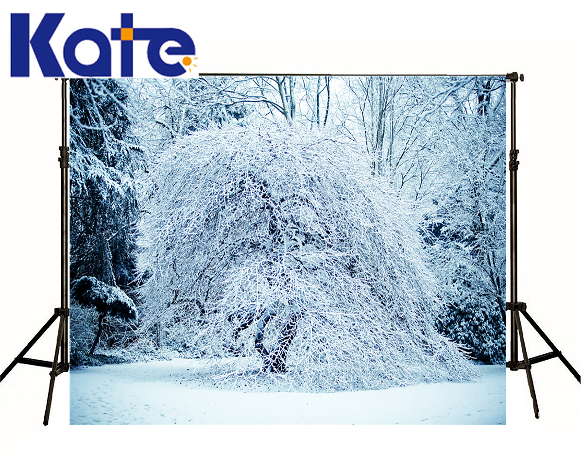 Kate Backdrops Winter Heavy Snow Pressure Branches Scenery Photography Backdrops Garden Backgrounds For Photo Shoot сумка kate spade new york wkru2816 kate spade hanna