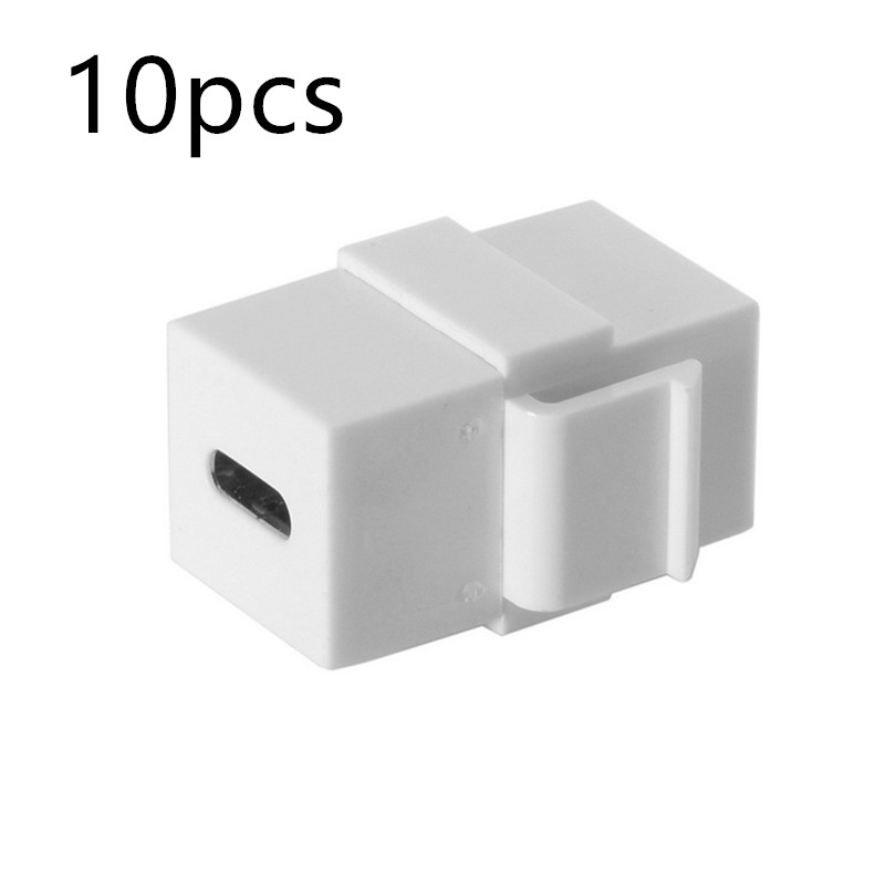 10pcs USB C adapter Type C Female to Female Extension Keystone Jack Coupler for Wall Plate Panel