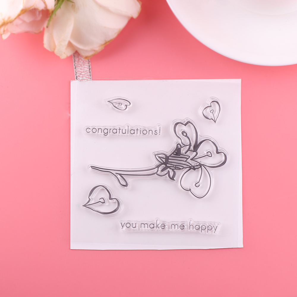 1 set flower heart new transparent silicone rubber stamps diy 1 set flower heart new transparent silicone rubber stamps diy crafts stamping embossing paper crafts scrapbooking album cards in stamps from office jeuxipadfo Gallery