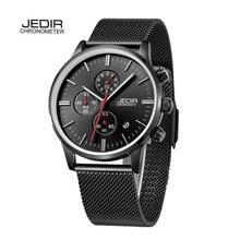 JEDIR Marca de Lujo Relogio masculino Hombres Relojes Deportivos Hombres Reloj de Cuarzo de acero inoxidable Reloj Impermeable Reloj megir hombre