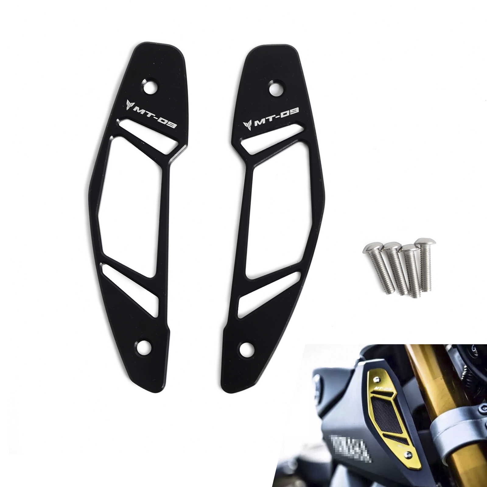 Motorcycle Air Intake Inlet Guard Cover Protector for YAMAHA MT09 FZ09 2013-2016