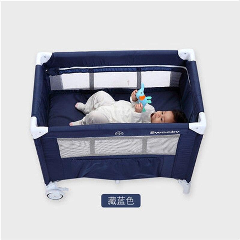 Многофункциональная складная детская кроватка для младенцев от 0 до 1 лет, портативная детская игровая кровать для путешествий