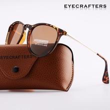 Tortoise Brown Brand Designer Polarized Sunglasses Womens Retro Vintage