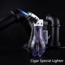 Mini Butane Jet Torch Cigarette Windproof Lighter Random Color Plastic Fire Ignition Burner NO GAS недорго, оригинальная цена