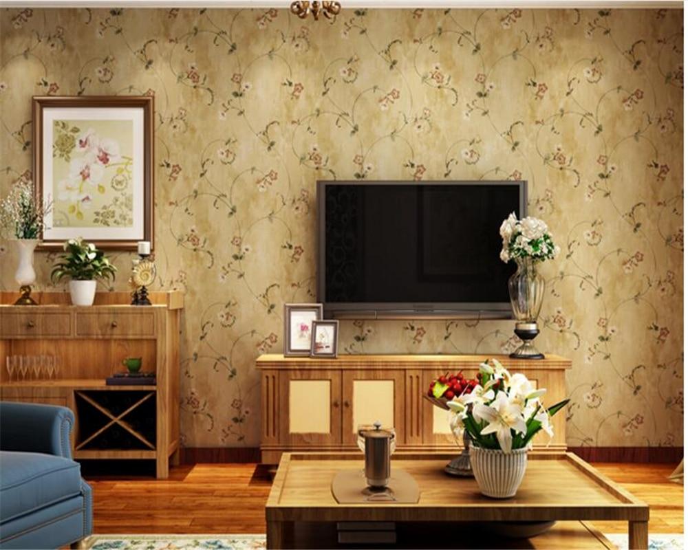 beibehang Retro American Village Nonwovens Wall paper Pastoral Living Room Bedroom Sofa TV Background Wallpaper papel de parede  недорого