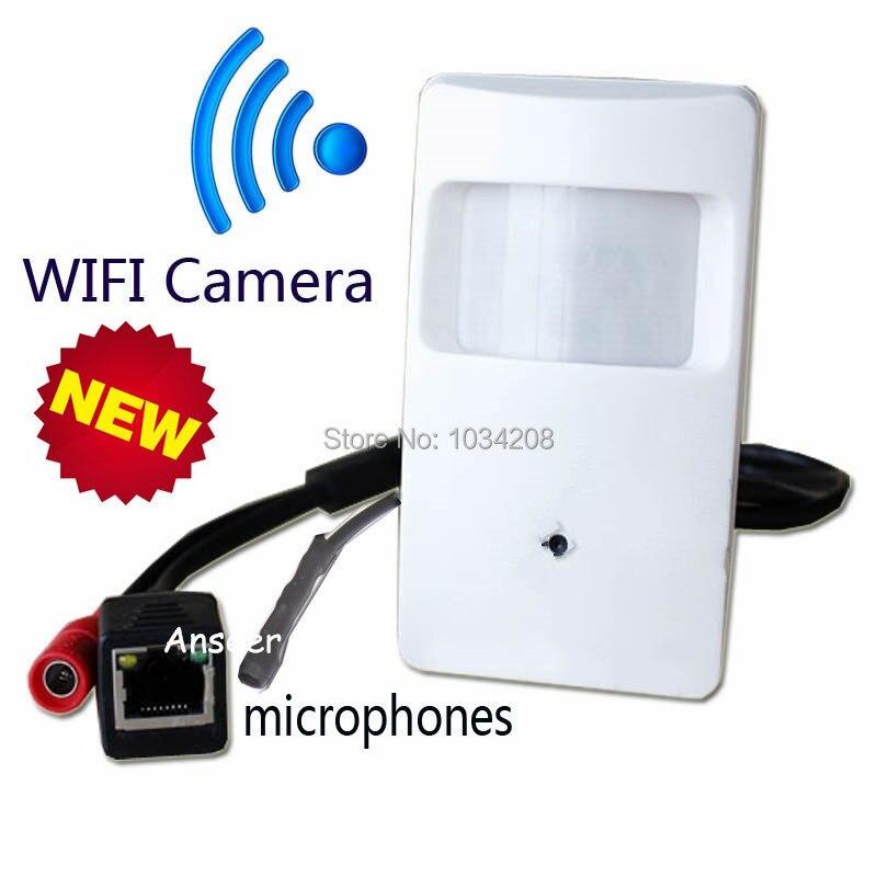 Микрофон Onvif 1,0 мегапиксела 720 P WI-FI детектор движения Pir Пинхол Камера ПИР Пинхол WI-FI Камера PIR IP Камера Беспроводной
